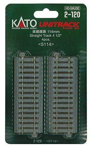Kato HO Scale Unitrack Straight Track - 4pcs, 114mm, 4 1/2""