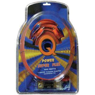 Qpower 0GAMPKITSFLEX Super Flex Amp Kit - 0 Gauge