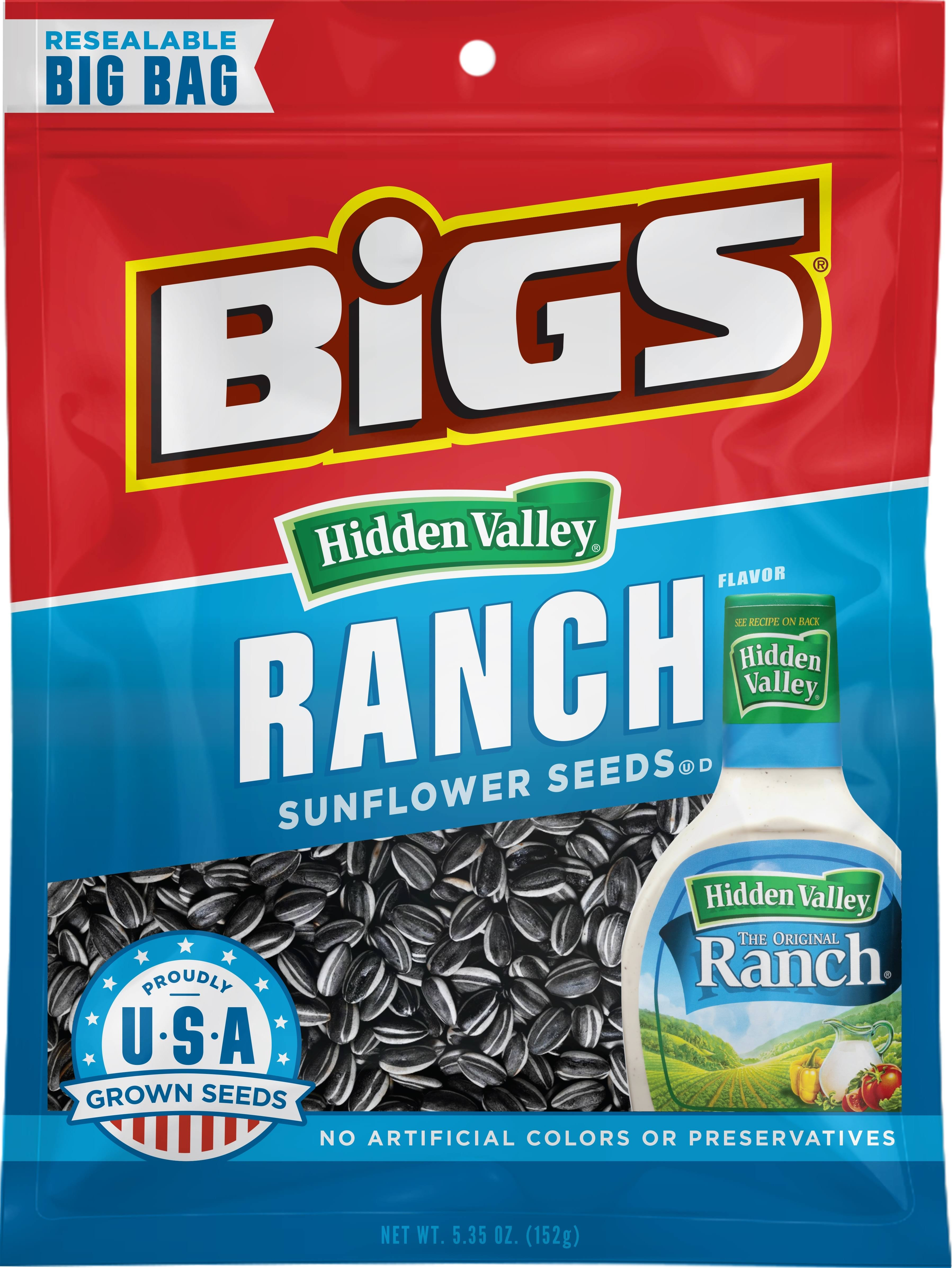 Bigs Hidden Valley Ranch Flavor Sunflower Seeds - 5.35oz