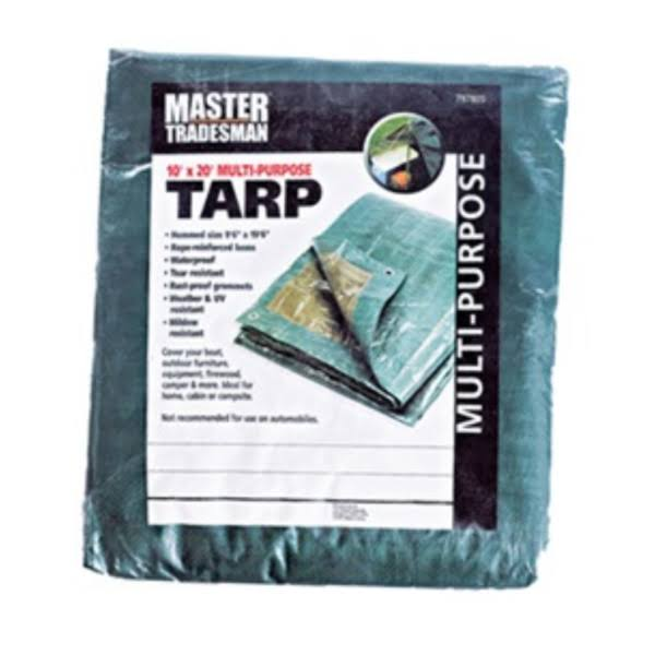 Polyethylene Tarp, Green/Brown, 10 x 20-ft.
