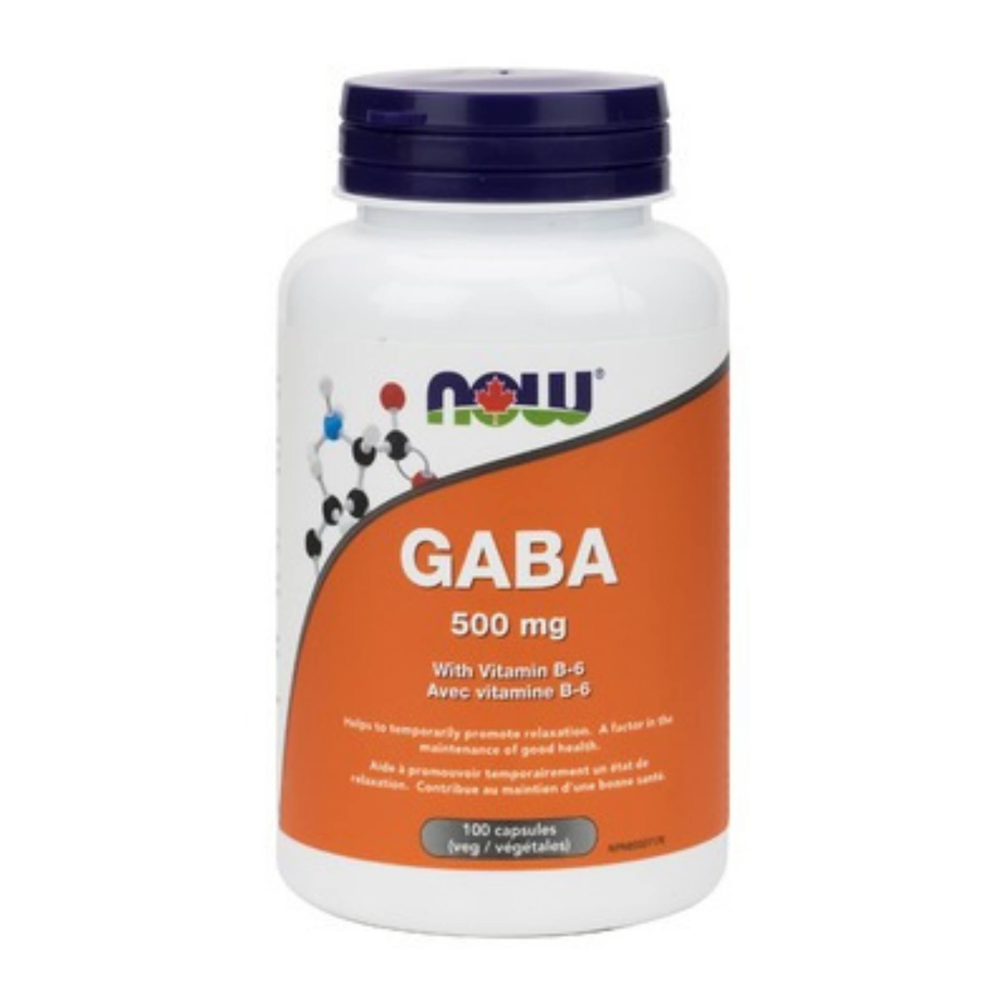 Now Gaba Supplement - 500mg, with Vit B-6, 100 Capsules
