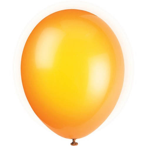 Unique Industries Latex Crystal Balloons - Citrus Orange
