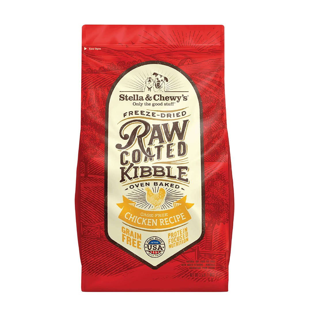 Stella & Chewy's 22 lb Raw Coated Chicken Recipe Dog Food