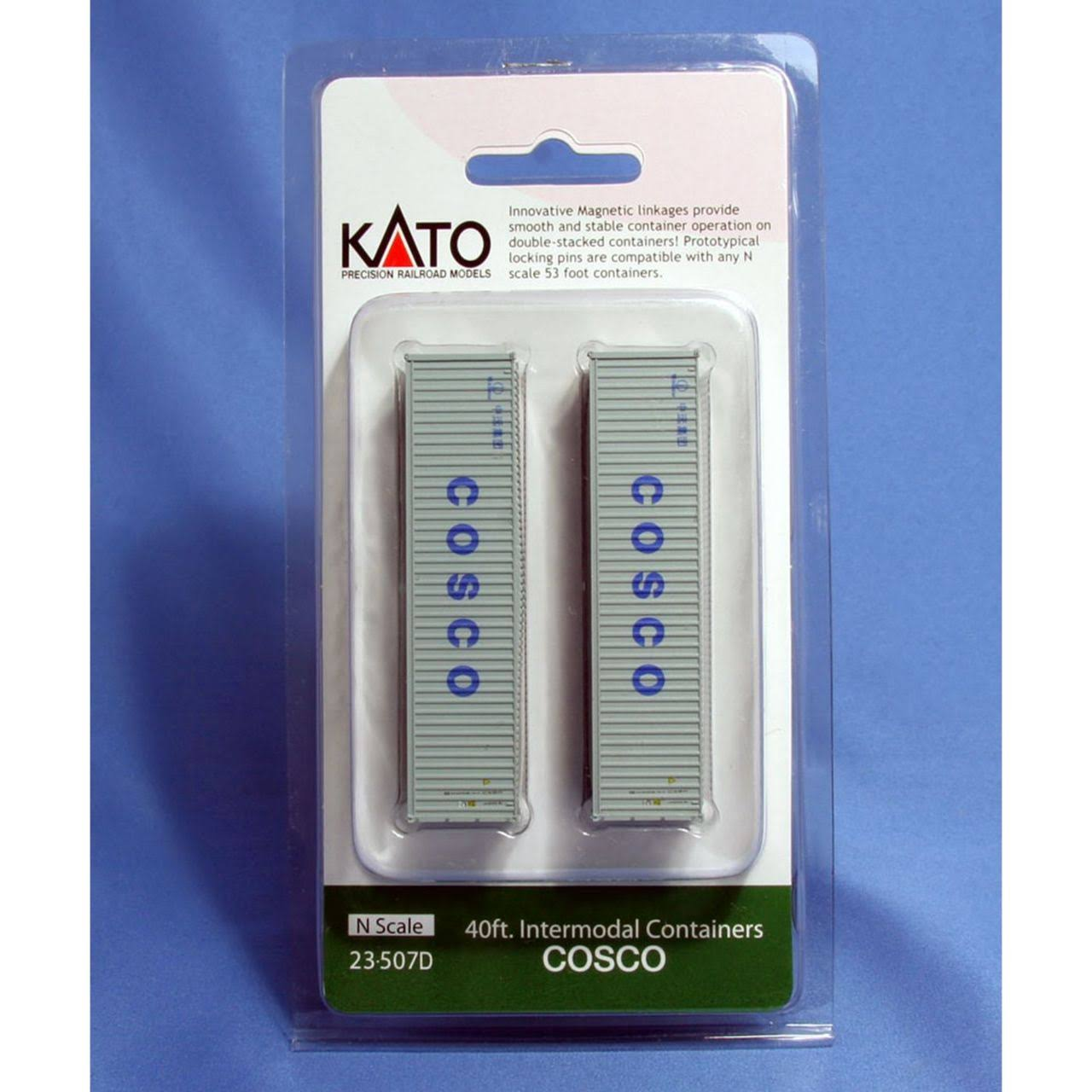 Kato USA N 40' Container Cosco (2) KAT23507D