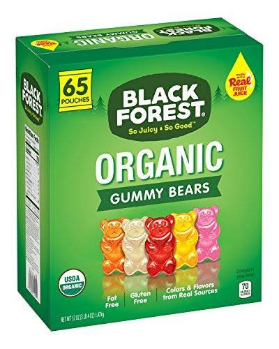 Black Forest Organic Gummy Bears Candy Pack - 0.8oz, 65ct
