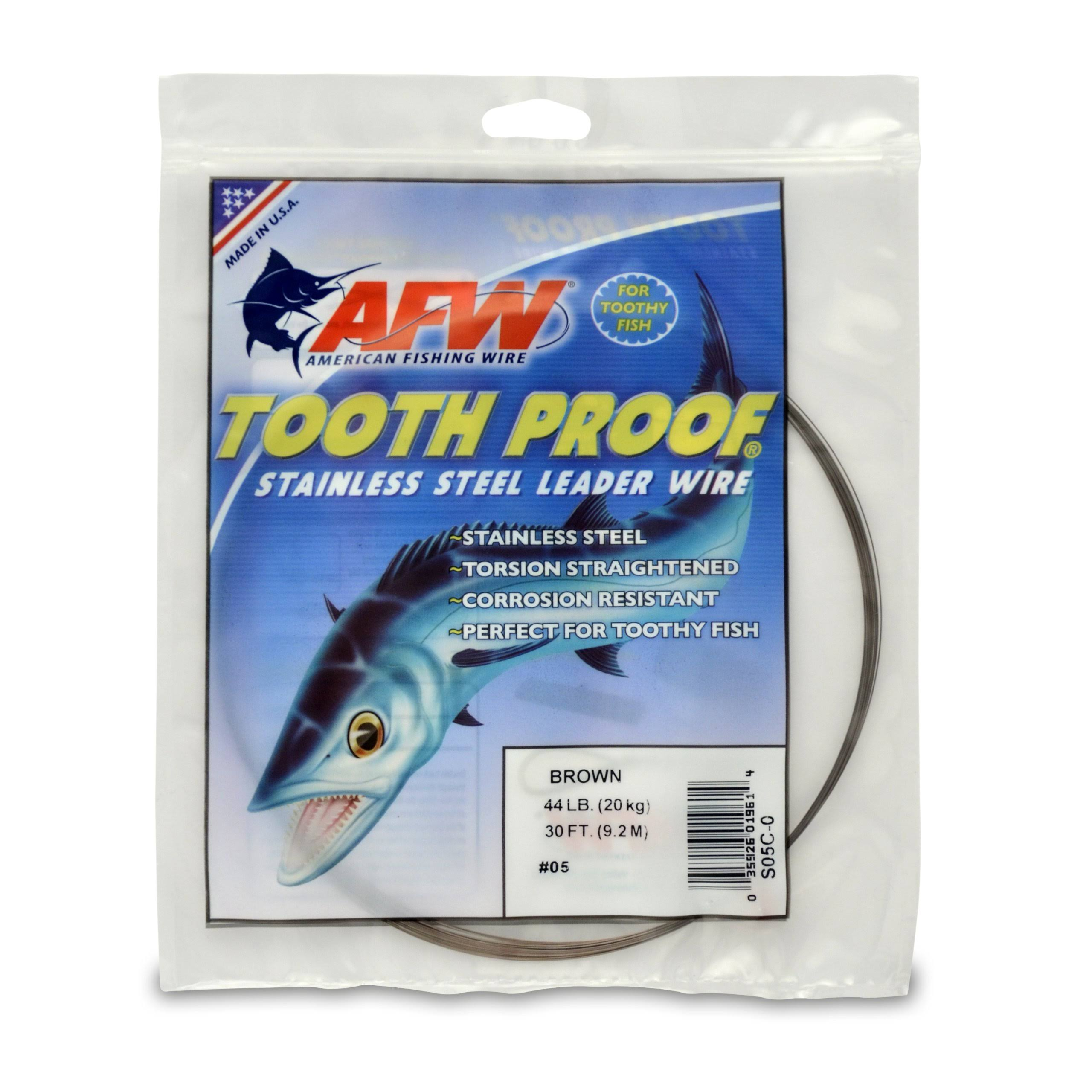 American Fishing Wire Tooth Proof Stainless Steel Wire