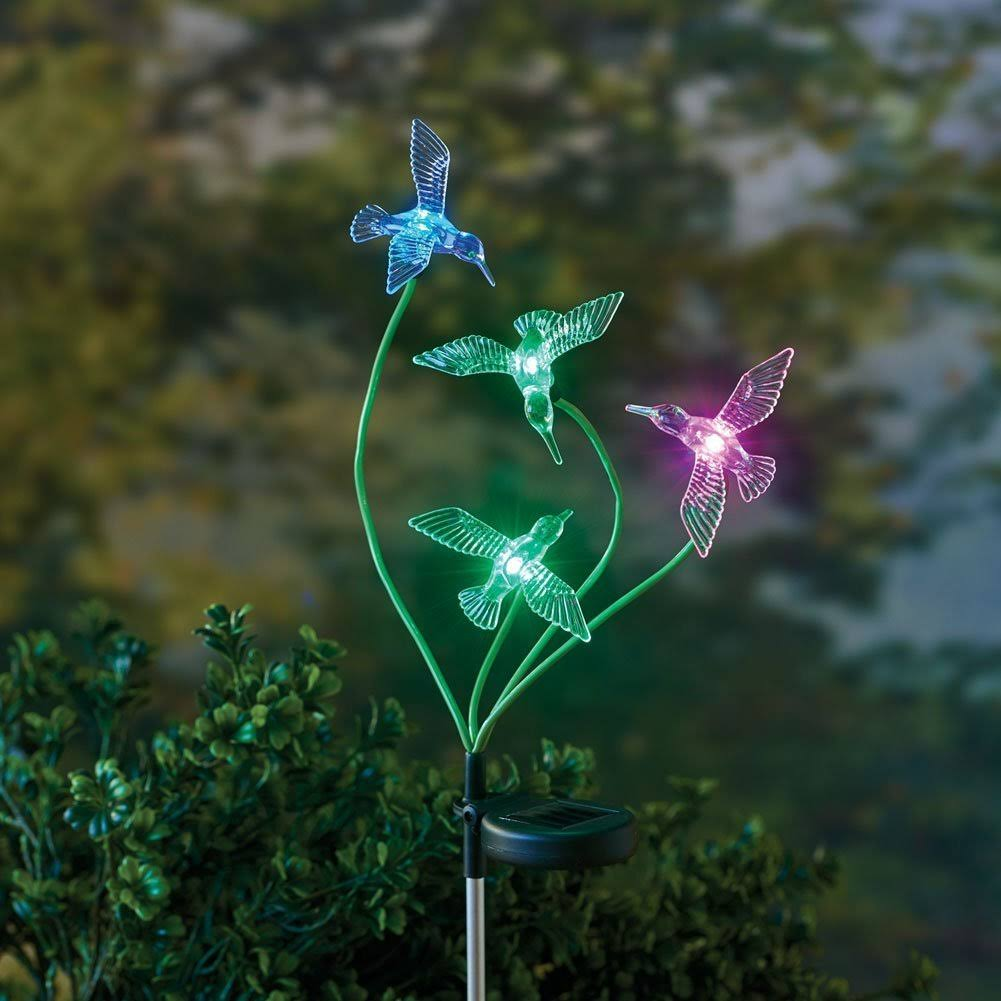 Amscan Solar Hummingbird Color-Changing Stake