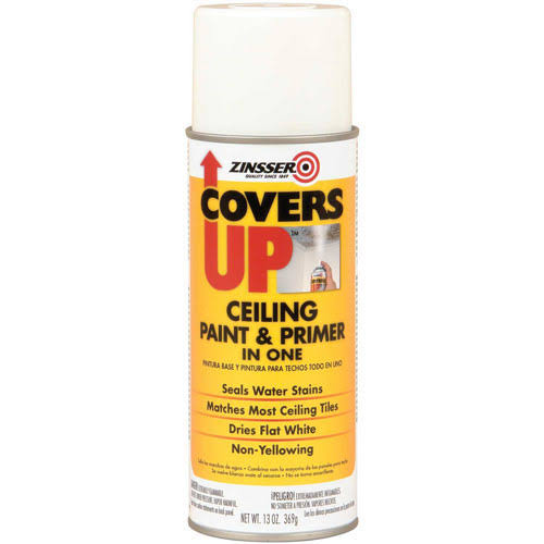 Zinsser ZN03688 CoversUp Stain Sealing Aerosol Ceiling Paint - 420ml