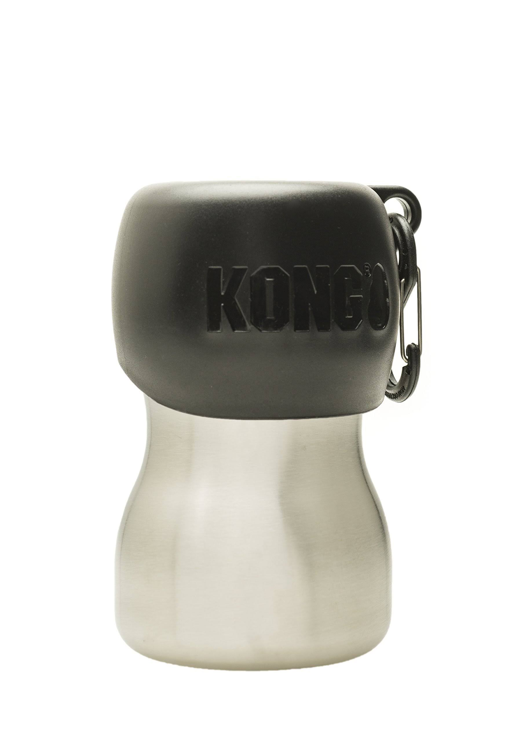 Kong H2O Stainless Steel Dog Water Bottle, 9.5-oz, Black