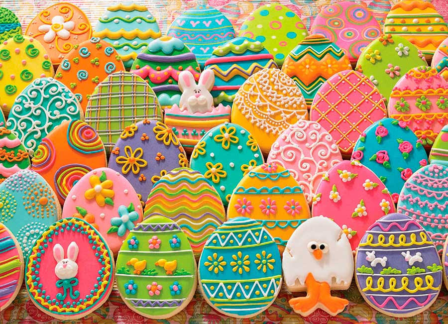 "Easter Eggs - Jigsaw Puzzle 1000 Pieces 26.625""X19.25"""