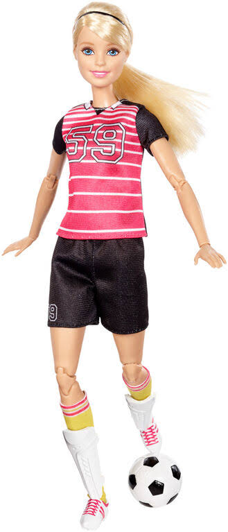 Barbie Made to Move Career Fashion Doll - Soccer Player
