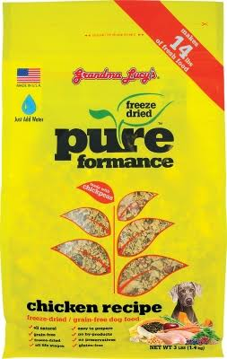 Grandma Lucy's Pureformance Grain Free Dog Food Treats - Chicken Recipe, 3 lbs