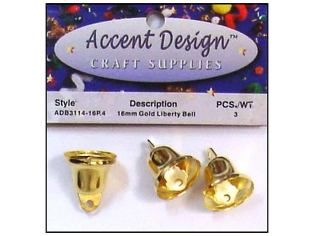 PA Essentials AD3114/16P.4 Liberty Bell 16mm 3PC Gold