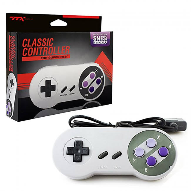 TTX Tech Wired Classic Style SNES Controller - Gray