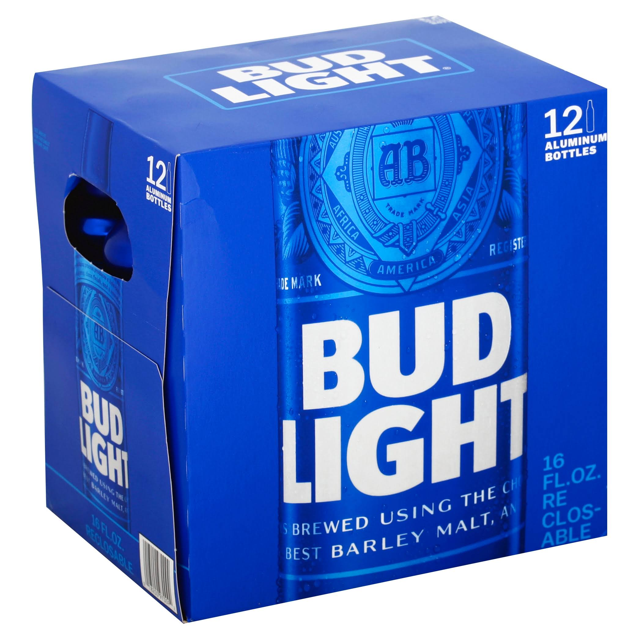 Bud Light Beer - 12 Aluminum Bottles