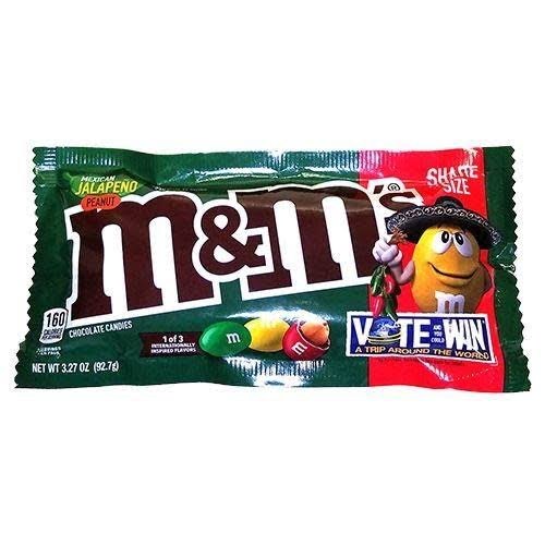 M & M Chocolate Candies, Mexican Jalapeno Peanut, Share Size - 3.27 oz