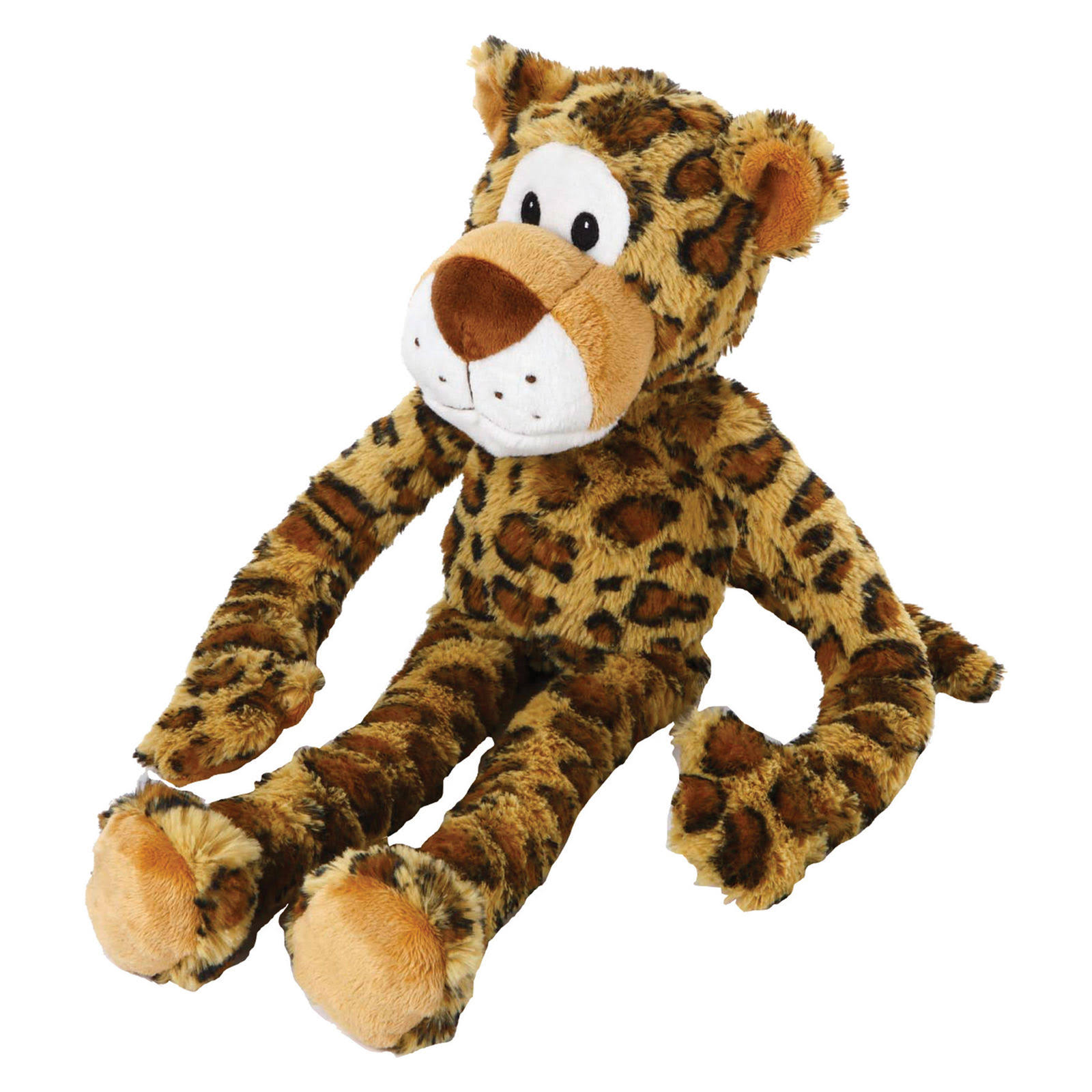 Multipet Swingin Safari Leopard Plush Dog Toy - Large