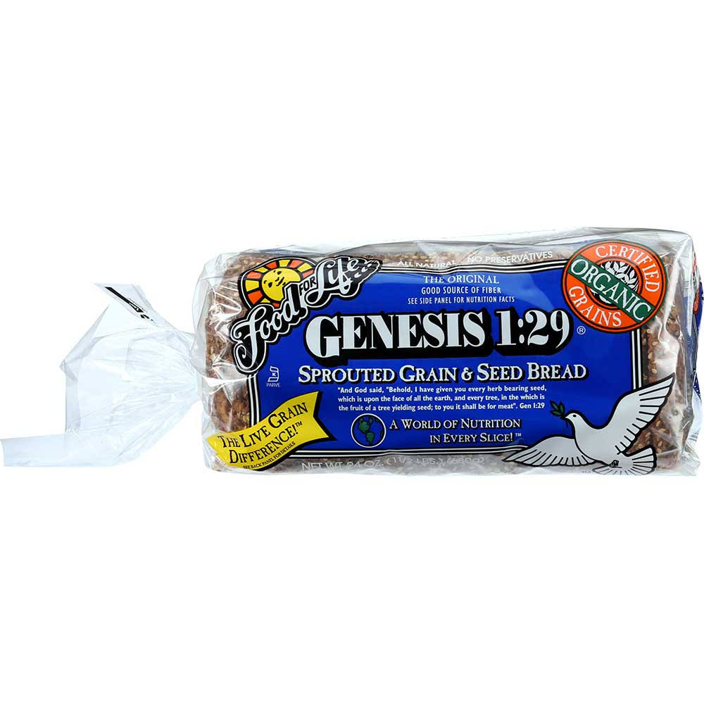 Food For Life Genesis Sprouted Grain & Seed Bread - 24 oz loaf