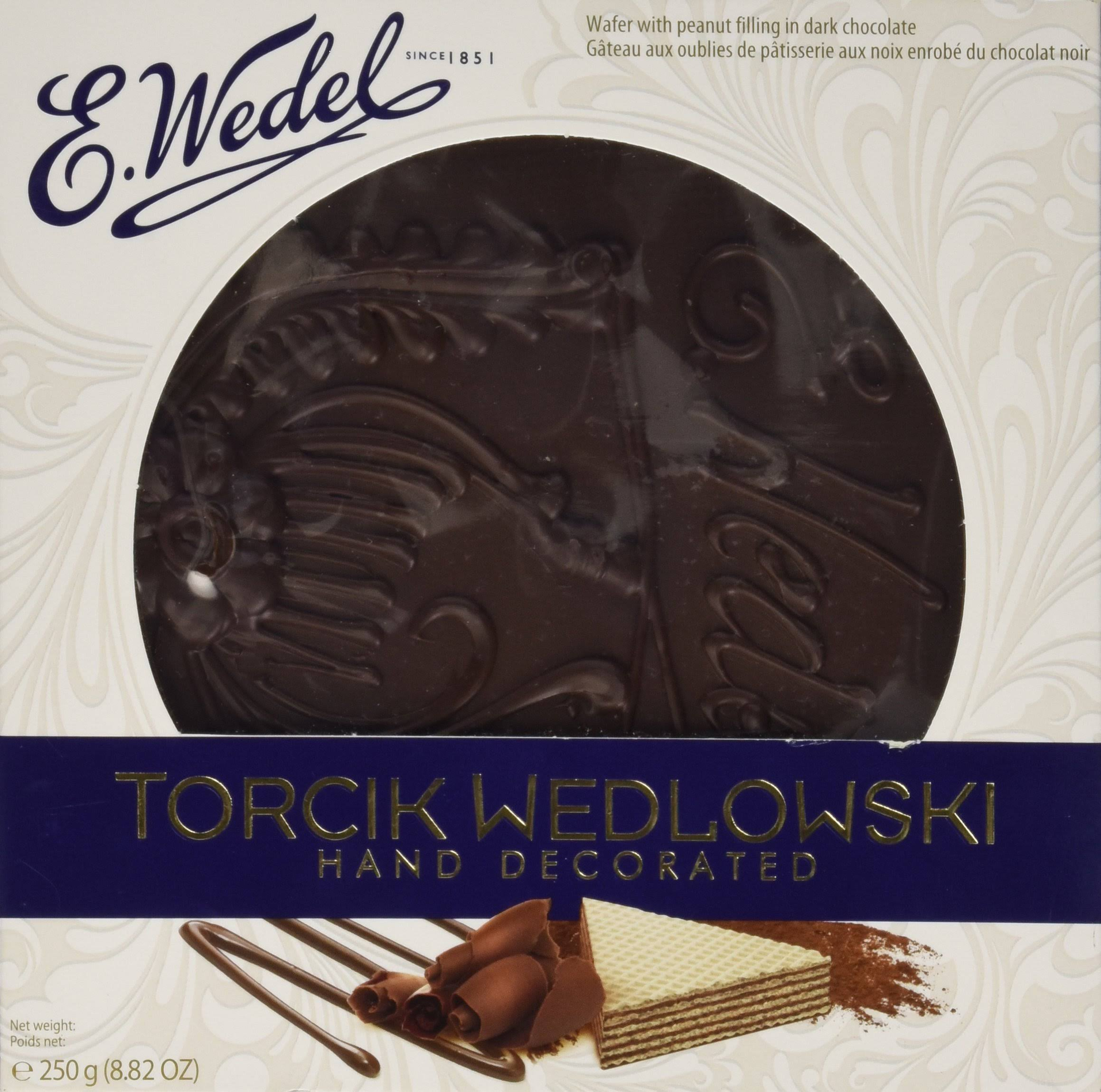 E. Wedel Wedlowski Wafer - Peanut Filling In Dark Chocolate, 250g