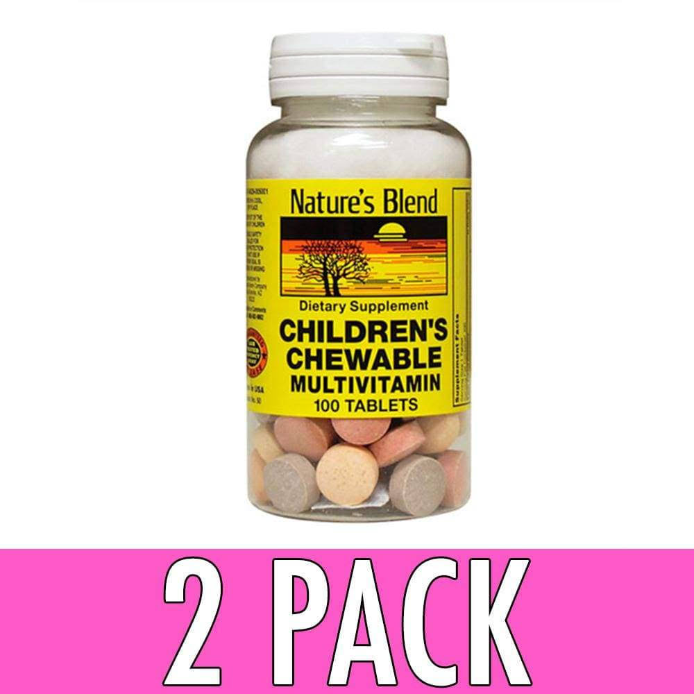 Nature's Blend Children's Chewable Multivitamins - 100 Tablets