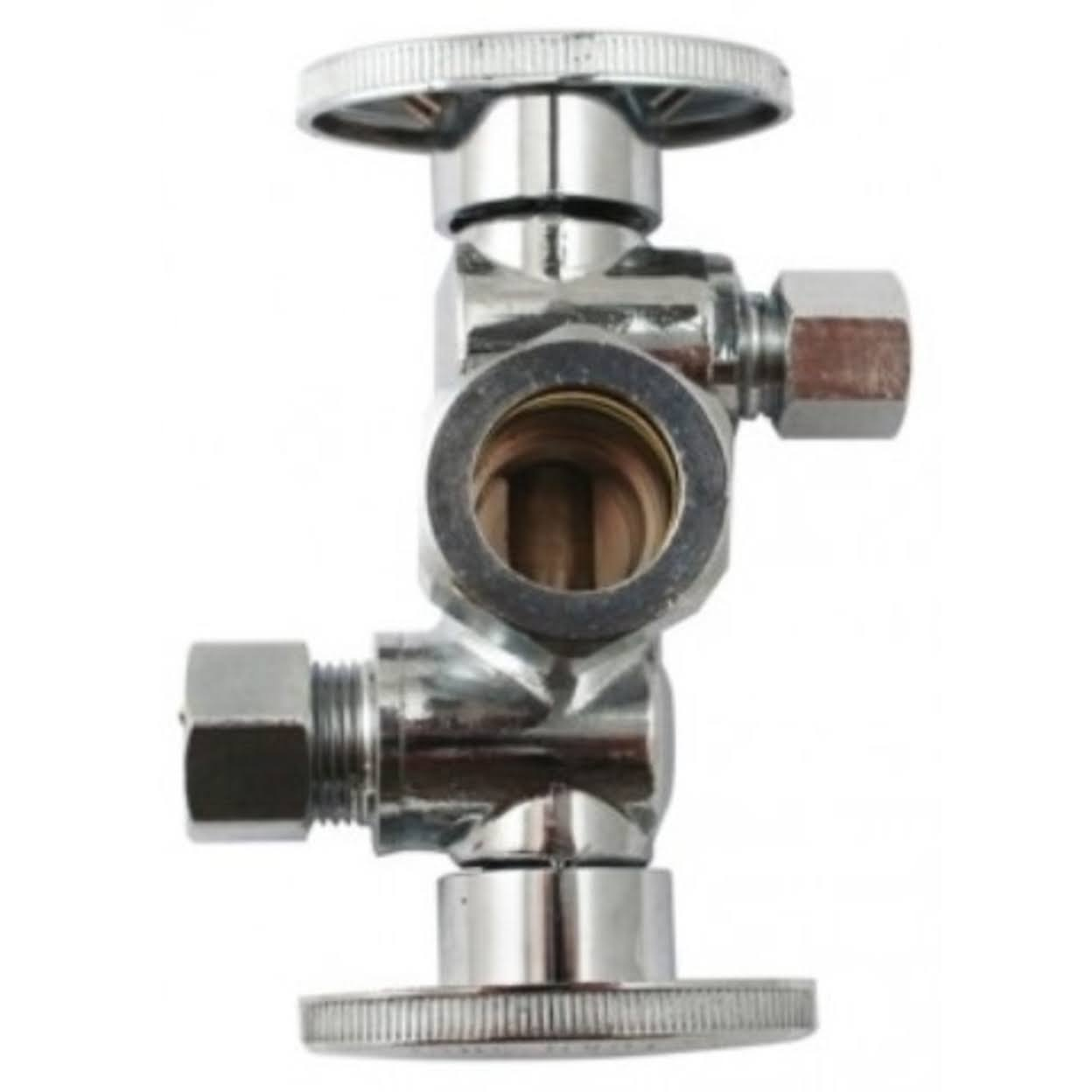 "Keeney Quarter Turn Dual Shut-Off Valve - 5/8"" x 3/8"""