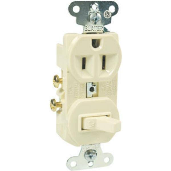 Pass and Seymour 691ICC6 Combination Single Pole Switch Receptacle - Ivory, 120V