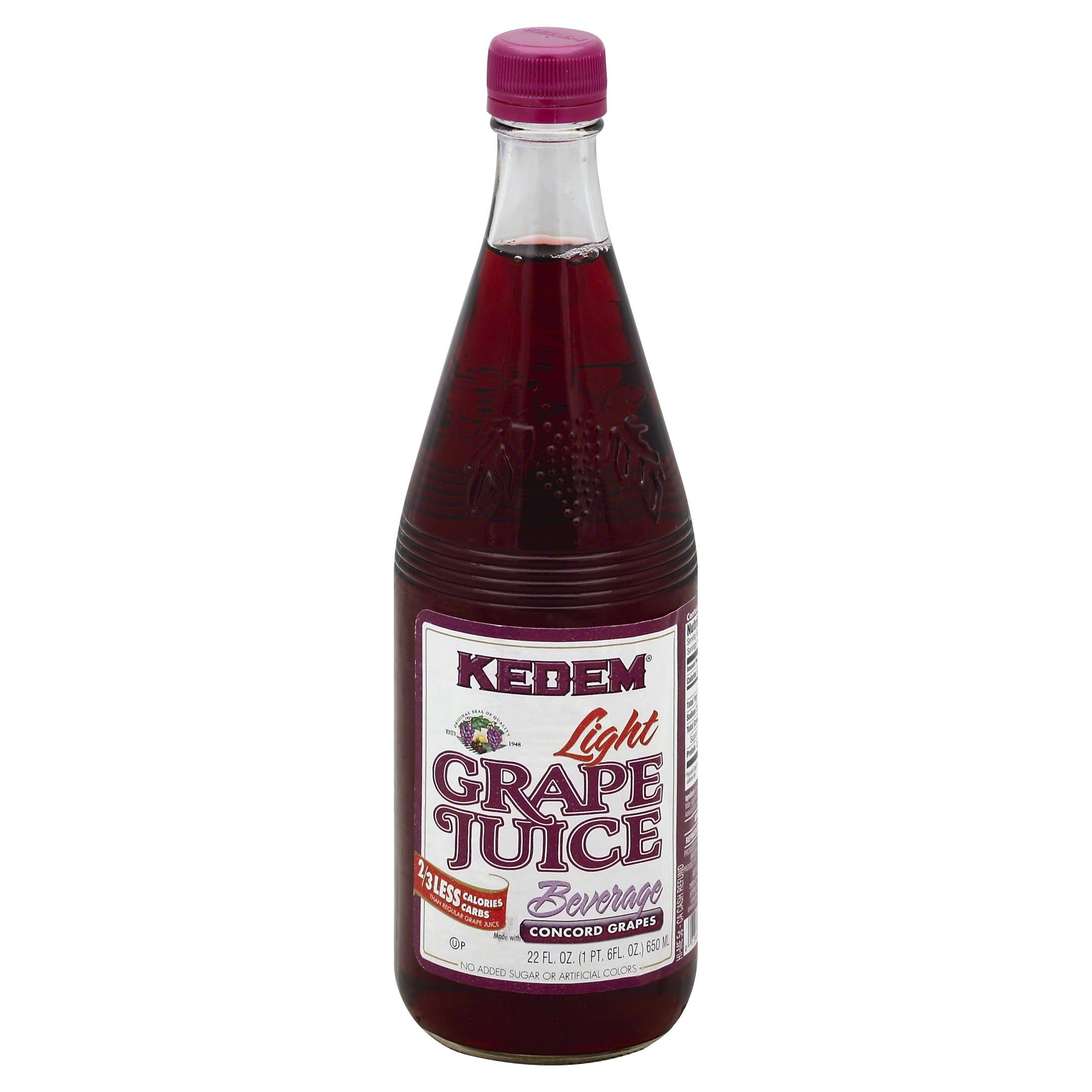 Kedem Grape Juice Beverage, Light - 22 fl oz