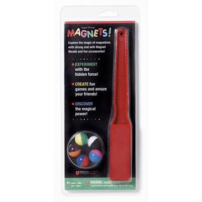 Dowling Magnets Magnet Wand and 5 Magnet - Set of 2, Colors May Vary