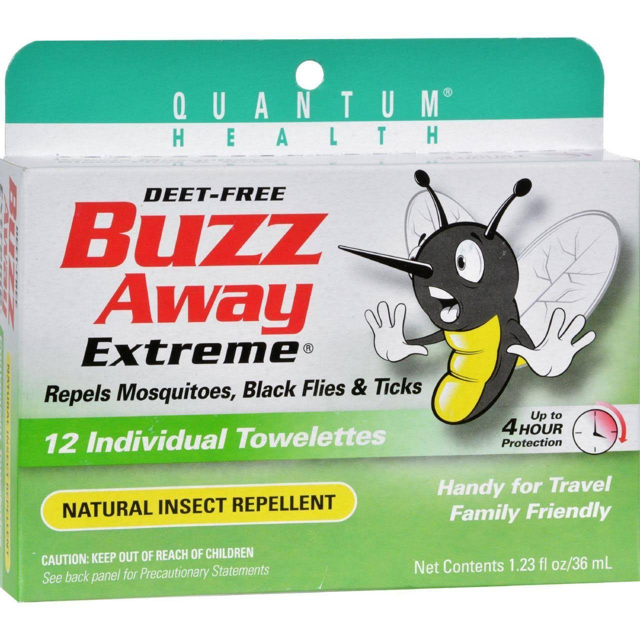 Buzz Away Insect Repellent Towelettes - Extreme, 12ct