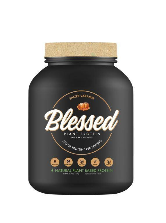 Blessed Protein 100% Pure Plant Based Clear Vegan Natural - Salted Caramel, 25g