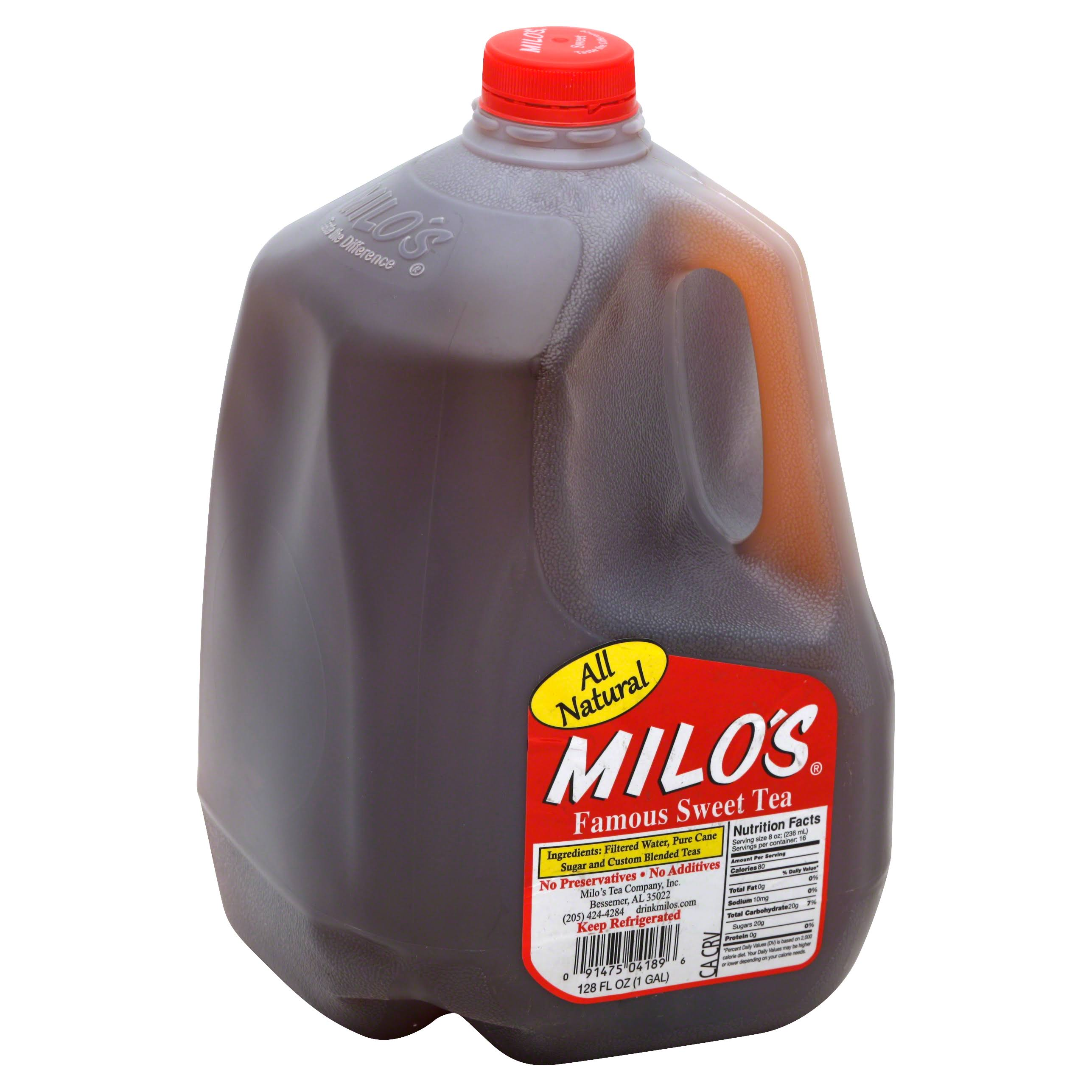 Milo's Famous Sweet Tea - All Natural, 128oz