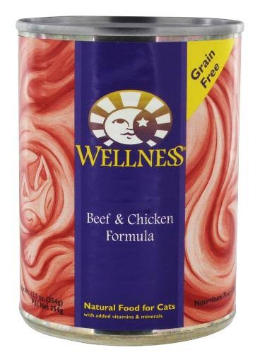 Wellness Natural Food for Cats, Beef & Chicken - 12.5 oz can