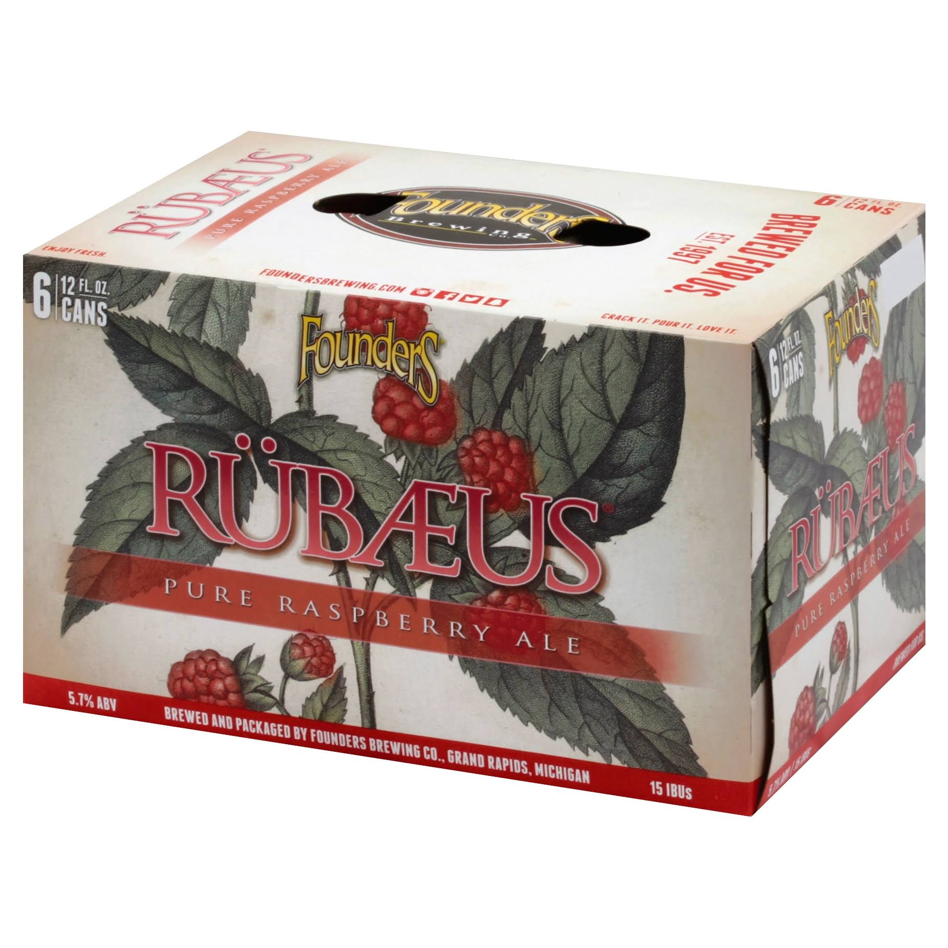 Founders Beer, Rubaeus, 6 Pack - 6 pack, 12 fl oz cans