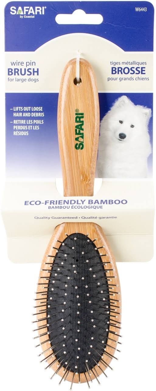 Safari Wire Pin Brush - Bamboo Handle, Medium-Large