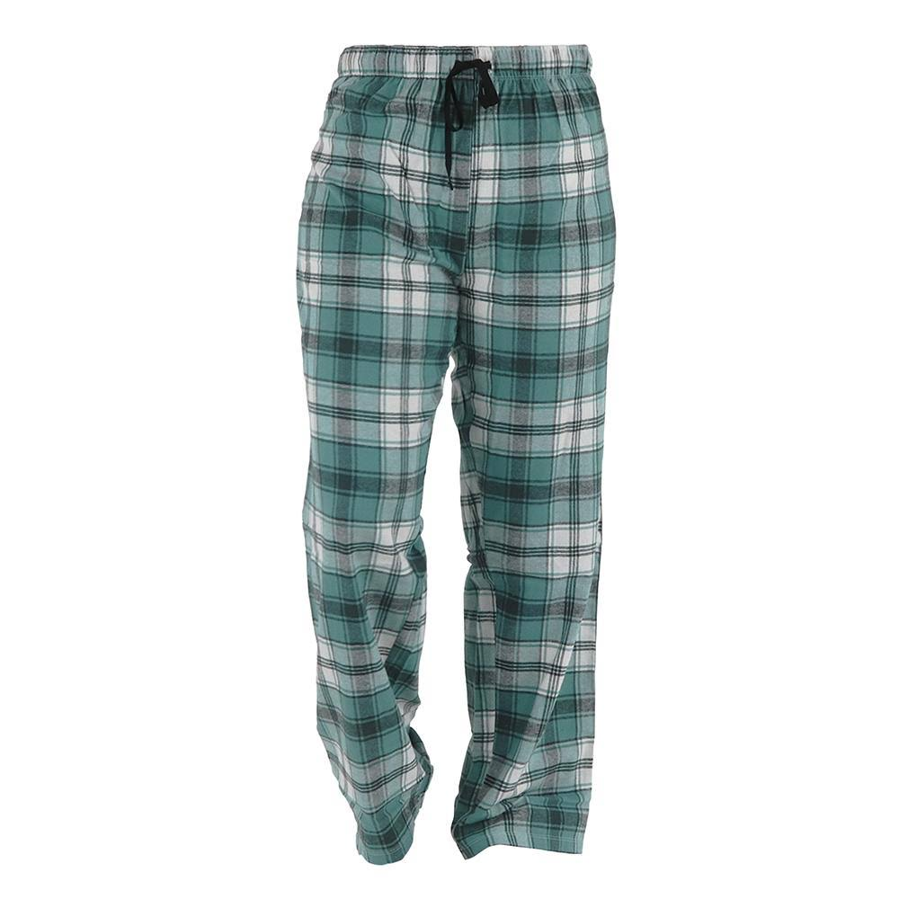 Hello Mello Flannel Lounge Pants for Women | Tartan Green Plaid X-Large / Green Plaid