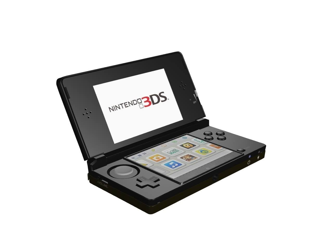 Nintendo 3DS Handheld Gaming System - Cosmo Black, 2GB