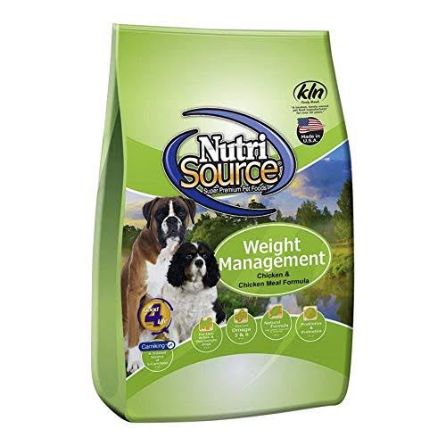 Nutri Source Weight Management Adult Dog Food - Chicken and Rice Formula, 30lb