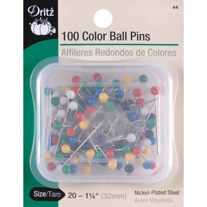 Dritz Color Ball Pins - Size 20, 100 Pack