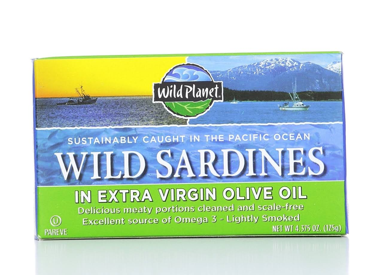 Wild Planet Wild Sardines in Extra Virgin Olive Oil - 4.375oz