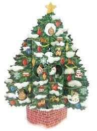 Christmas Tree Amazon Prime by Amazon Com Christmas Tree Pop Up Christmas Greeting Card Pop Up