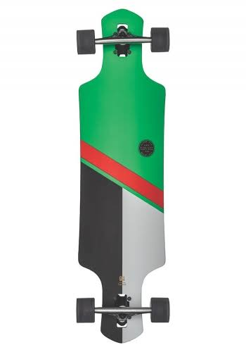 "Globe Geminon 38.5"" Complete Longboard - Green/Red 38.5in"