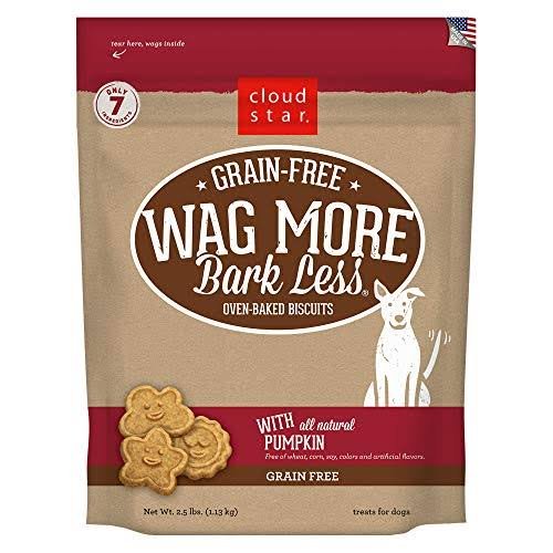 Cloud Star Wag More Bark Less Grain Free Pumpkin Dog Treats, 2.5 lbs.