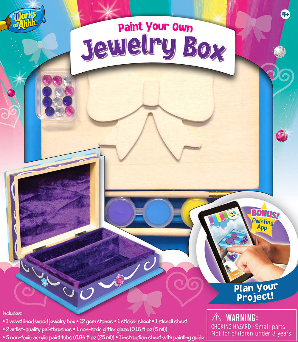 Masterpieces Jewelry Box With Bow Paint Kit