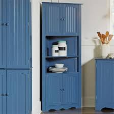Free Standing Kitchen Cabinets Amazon by Amazon Com Brylanehome Country Kitchen Corner Cabinet Blue 0