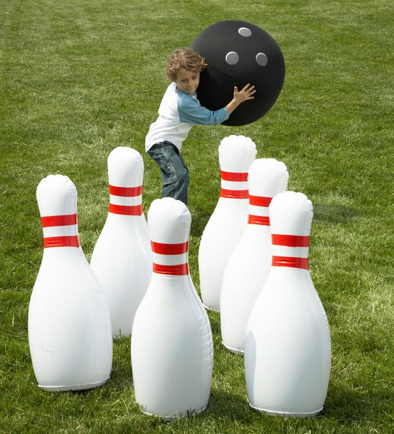 Giant Inflatable Outdoor Bowling Game Hearthsong