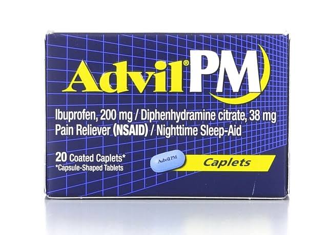Advil PM Nighttime Fast Sleep Aid Pain Reliever - 20ct