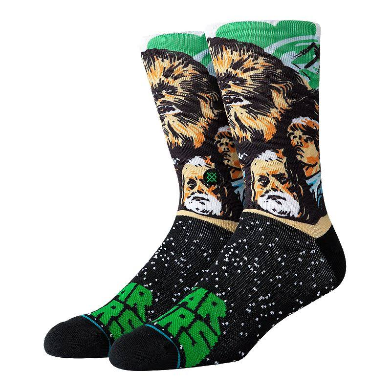 Stance Mens Star Wars Chewbacca Crew Socks - Green