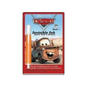 Disney Pixar Cars Invisible Ink Pictures Sticker Book 1