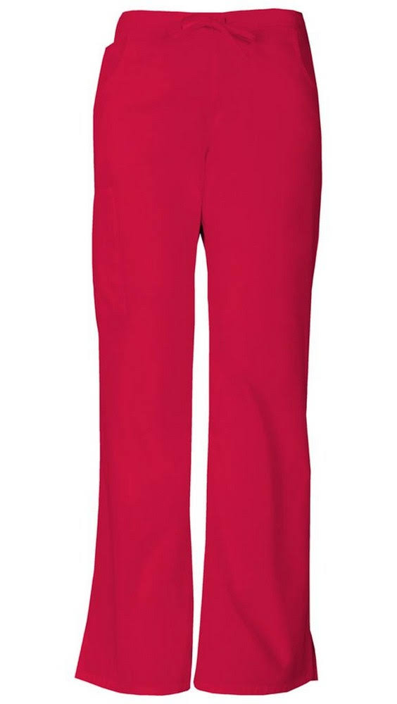 Dickies EDS Signature Mid Rise Drawstring Cargo Pant - Red, 2X-Large
