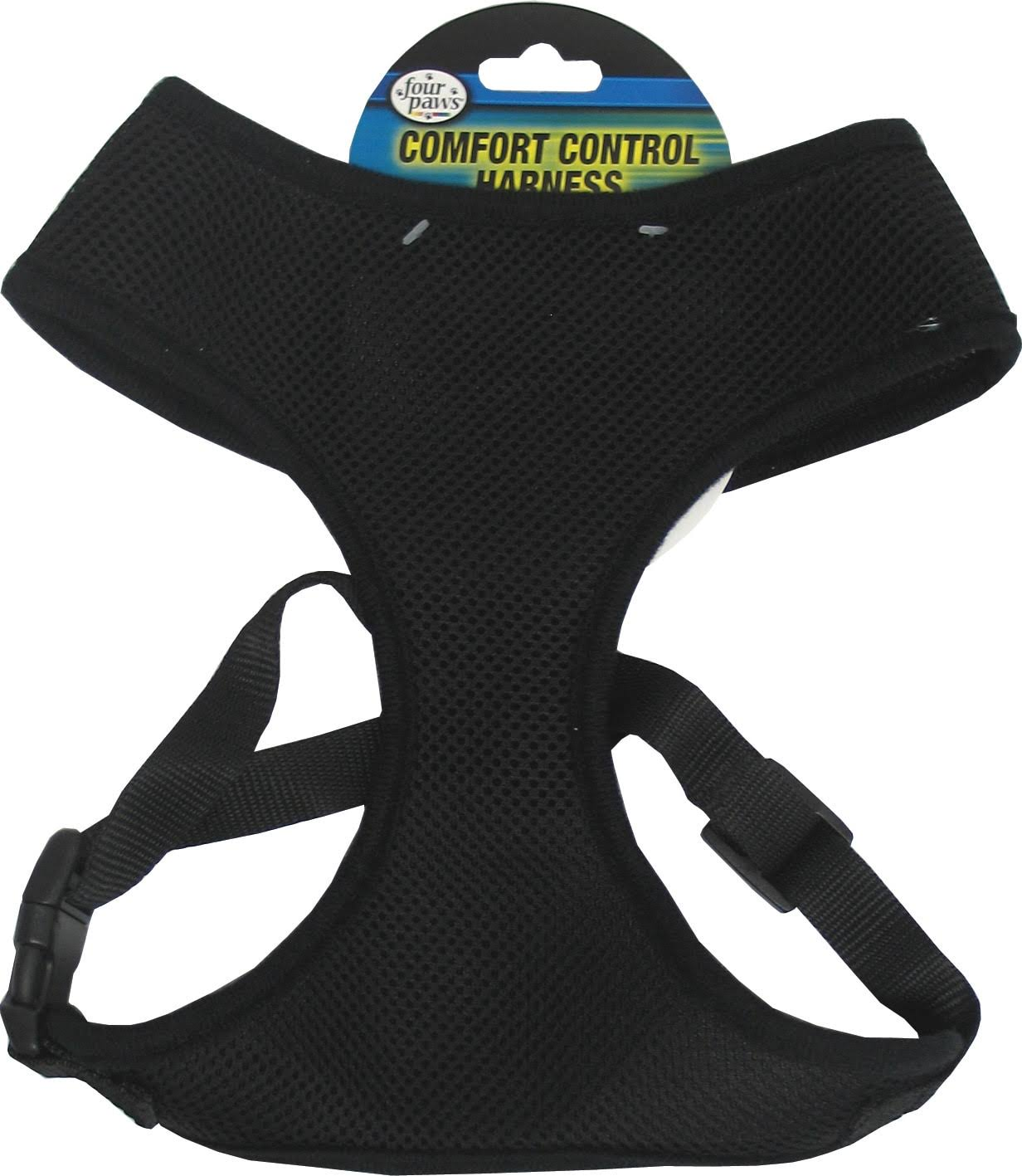 Four Paws Comfort Control Dog Harness - Black, Extra Small